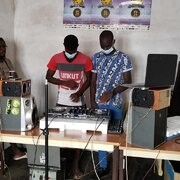 Youths being prepared to be Deejays