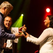Phil Stanton receiving WOMEX 13 Label Award