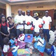 Donations distribution in schools and kinda gardens