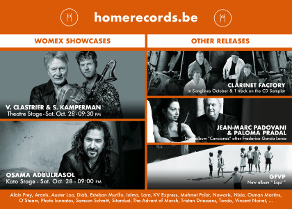HOMERECORDS.BE - 2 SHOWCASES - WOMEX 2017