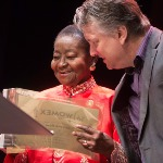 Ivan Duran and Calypso Rose at the WOMEX 16 Awards, by Jacob Crawfurd