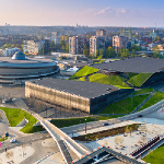 Katowice International Congress Centre (ICC) and Spodek.
