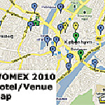 WOMEX 2010 Hotel/Venue Map