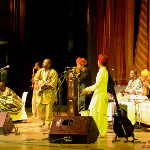 Barmer Boys with Vieux Farka Toure and Madou Sidiki Diabate, at the Amarrass Desert Music Festival 2011
