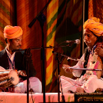 Lakha Khan with son Dane at the Amarrass Desert Music Festival 2011
