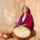 The artist, Mariana Carrizo with her chayera drum