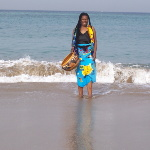 Stella Chiweshe at the sea