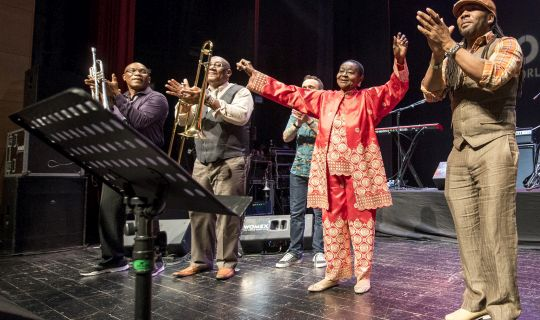 Calypso Rose receives the WOMEX 16 Artist Award, by Yannis Psathas