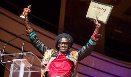 heikh Lô receives the WOMEX 15 Artist Award, by Jacob Crawfurd