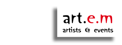 art.e.m artists & event management Logo