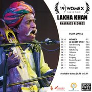 Lakha Khan WOMEX 2019 Showcase Artist on Europe tour Oct-Nov